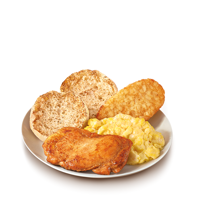 麦当劳板烧鸡腿香肠早晨全餐